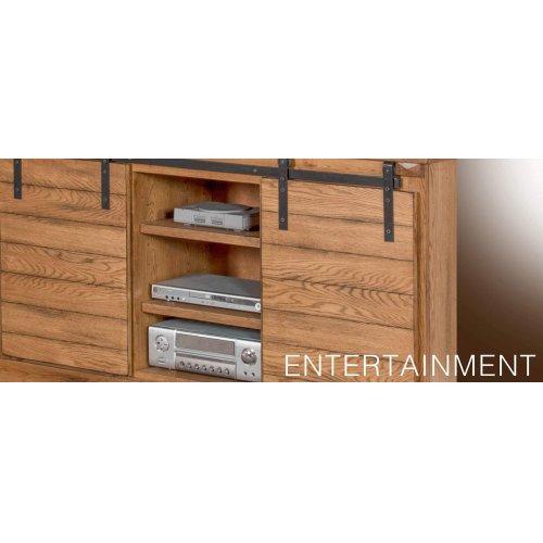 "65"" TV Console w/ Barn Door"