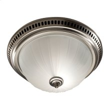 Decorative Fan/Light, Satin Nickel, Glass Globe, 70 CFM