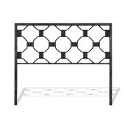 Baxter Metal Headboard Panel with Geometric Octagonal Design, Heritage Silver Finish, Queen Product Image