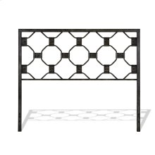 Baxter Metal Headboard Panel with Geometric Octagonal Design, Heritage Silver Finish, Queen