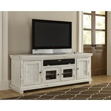 "74"" Console - Distressed White Finish"