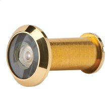 Door Accessories  190 Degree Wide Angle Viewer - Bright Brass