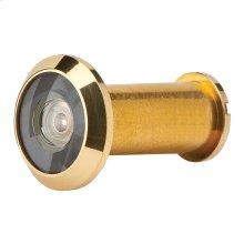Door Accessories  190 Degree Wide Angle Viewer - Bright Brass