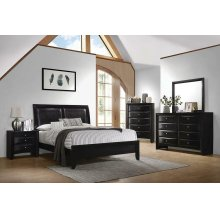 Briana Black Queen Four-piece Bedroom Set