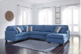 Brioni Nuvella - Blue 3 Piece Sectional Product Image