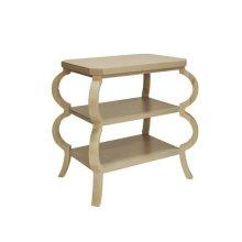 Three Tier Side Table In Cerused Oak