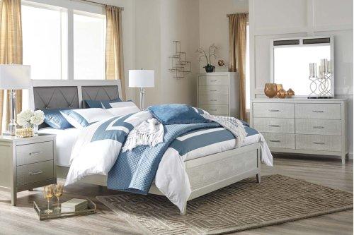 Olivet - Silver 2 Piece Bed Set (Queen)