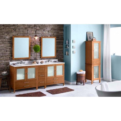 "Juno 30"" Bathroom Vanity Cabinet Base in Cinnamon"