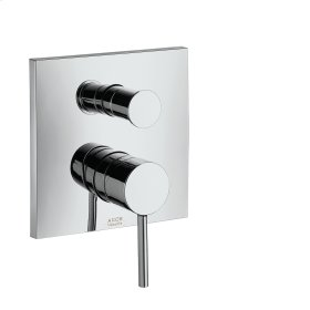 Polished Black Chrome Single lever bath mixer for concealed installation