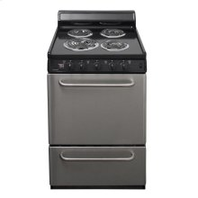 24 in. Freestanding Electric Range in Stainless Steel