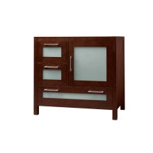 "Athena 36"" Bathroom Vanity Base Cabinet in Dark Cherry - Door on Right"