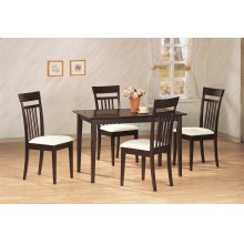Mason Cappuccino 5 Pc Dining Set