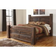 Quinden - Dark Brown 4 Piece Bed Set (Queen) Product Image
