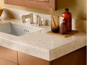 """WideAppeal™ 48"""" x 19"""" Marble Vanity Top in Cream Beige - 2 3/4"""" Thick Product Image"""