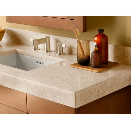"""WideAppeal™ 48"""" x 19"""" Marble Vanity Top in Cream Beige - 2 3/4"""" Thick"""