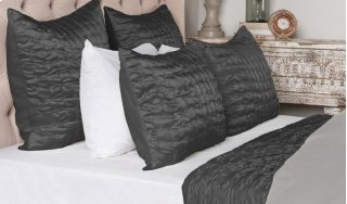 Aura Charcoal King Quilt 108x96