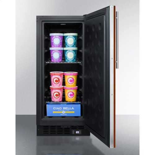 """15"""" Wide Frost-free Freezer for Built-in or Freestanding Use, With Integrated Door Frame To Accept Overlay Panels; Replaces Scff1537bif"""