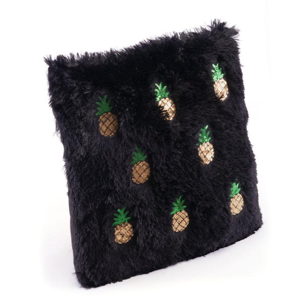Pineapple Pillow Black & Gold