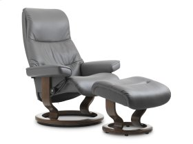 Stressless View Small Classic Base Chair and Ottoman