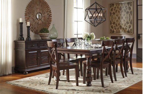Gerlane - Dark Brown 9 Piece Dining Room Set