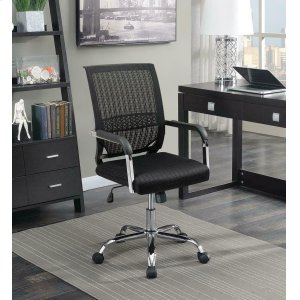 CoasterContemporary Black Mesh Back Office Chair