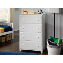 Atlantic 4 Drawer 48 inch Chest in White