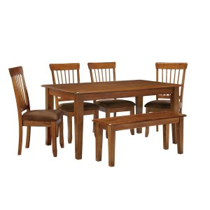 AshleyASHLEYBerringer - Rustic Brown 6 Piece Dining Room Set