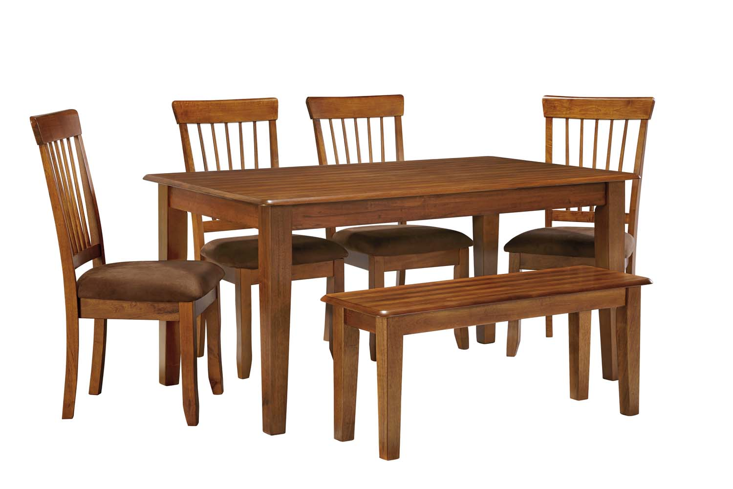 Berringer   Rustic Brown 6 Piece Dining Room Set