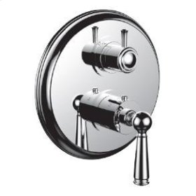 "1/2"" Thermostatic Trim With 3-way Diverter Trim (shared Function) in Bright Pewter"