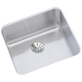 "Elkay Lustertone Classic Stainless Steel 14-1/2"" x 14-1/2"" x 7"", Single Bowl Undermount Sink with Perfect Drain"