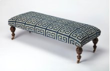Place this bench in the walkway or foyer of your home for the perfect place to as sit as you take off your shoes at the end of a long day. Its masterfully crafted Mango wood solid legs support a beautiful blue and grey Urethane and cotton fabric seat.