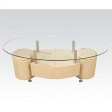 Sandy 3pc Coffee T/2 Ottoman