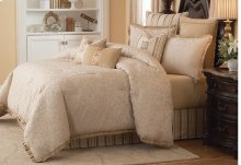 9 pc Queen Comforter Set Ivory