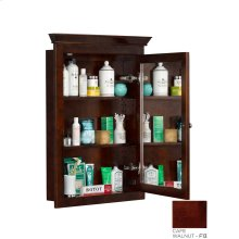 Transitional Solid Wood Framed Medicine Cabinet in Café Walnut
