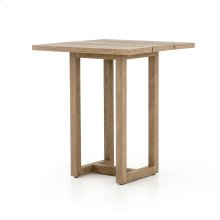 Brown Finish Stapleton Square Outdoor Bar Table