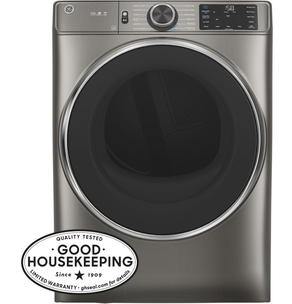 GE7.8 Cu. Ft. Capacity Smart Front Load Electric Dryer With Steam And Sanitize Cycle