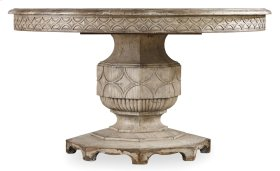 """Dining Room Chatelet Round Dining Table with One 20"""" Leaf"""