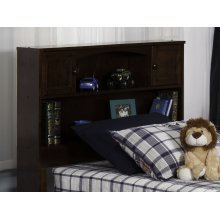 Newport Bookcase Headboard Twin Walnut