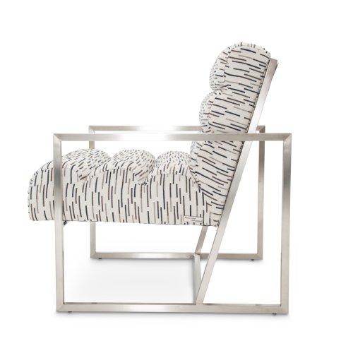 Marina Channel Back Chair Rdr Brushedsilver