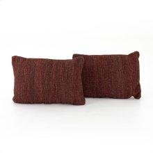 "16x24"" Size Currant Kilim Pillow, Set of 2"