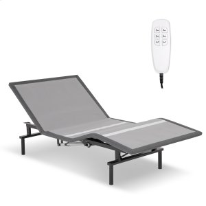 Leggett And PlattPro-Motion 2.0 Low-Profile Adjustable Bed Base with Simultaneous Movement and MicroHook Technology, Charcoal Gray Finish, Twin