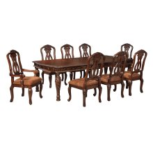North Shore - Dark Brown 7 Piece Dining Room Set