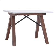 Saints Side Table Walnut & White