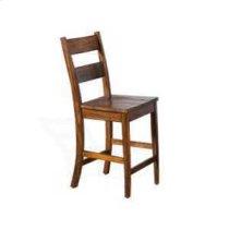 """24""""H Tuscany Ladderback Barstool w/ Wood Seat Product Image"""