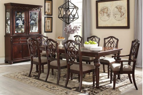 Leahlyn - Reddish Brown 2 Piece Dining Room Set