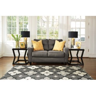 Nuvella Loveseat Gray