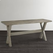"""Bench*Made Maple Crossbuck 54"""" Live Edge Desk Product Image"""