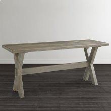 "Bench*Made Maple Crossbuck 54"" Live Edge Desk"