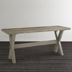 """Bassett FurnitureBench*Made Maple Crossbuck 54"""" Live Edge Desk"""