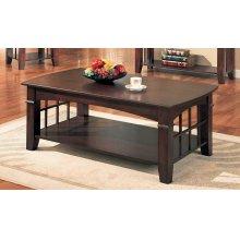 Abernathy Cherry Rectangular Coffee Table